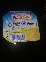 Crème dessert aromatisée saveur vanille stérilisée UHT - Product - fr