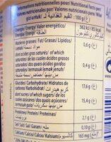 Dessert lacté pulpé Yaggo! stérilisé UHT - Banane - Nutrition facts - fr