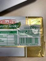 Le Beurre Tendre plaquette demi-sel - Recyclinginstructies en / of verpakkingsinformatie - fr