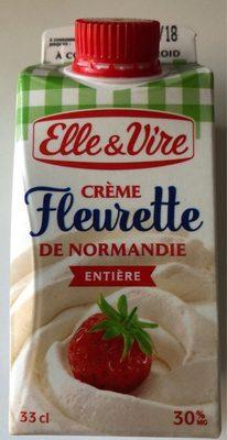 Crème fleurette de Normandie entière - Produit - fr
