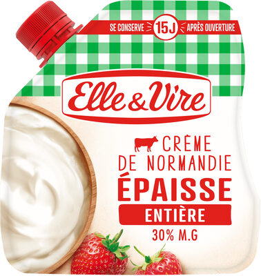 La Crème entière épaisse en poche de Normandie - Product - fr