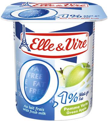 Dessert lacté aux fruits 0,1% stérilisé UHT - Pomme verte - Product - fr