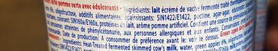 Dessert lacté aux fruits 0,1% stérilisé UHT - Pomme verte - Ingrediënten - fr