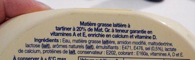 Le Léger 20% doux - Ingrédients - fr