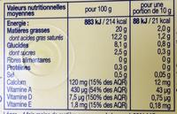 Le Léger 20% doux - Informations nutritionnelles - fr