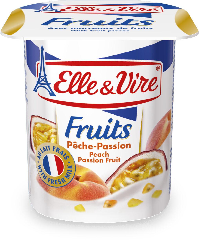 Desser lacté aux fruits stérilisé UHT - Pêches Passion - Product - fr