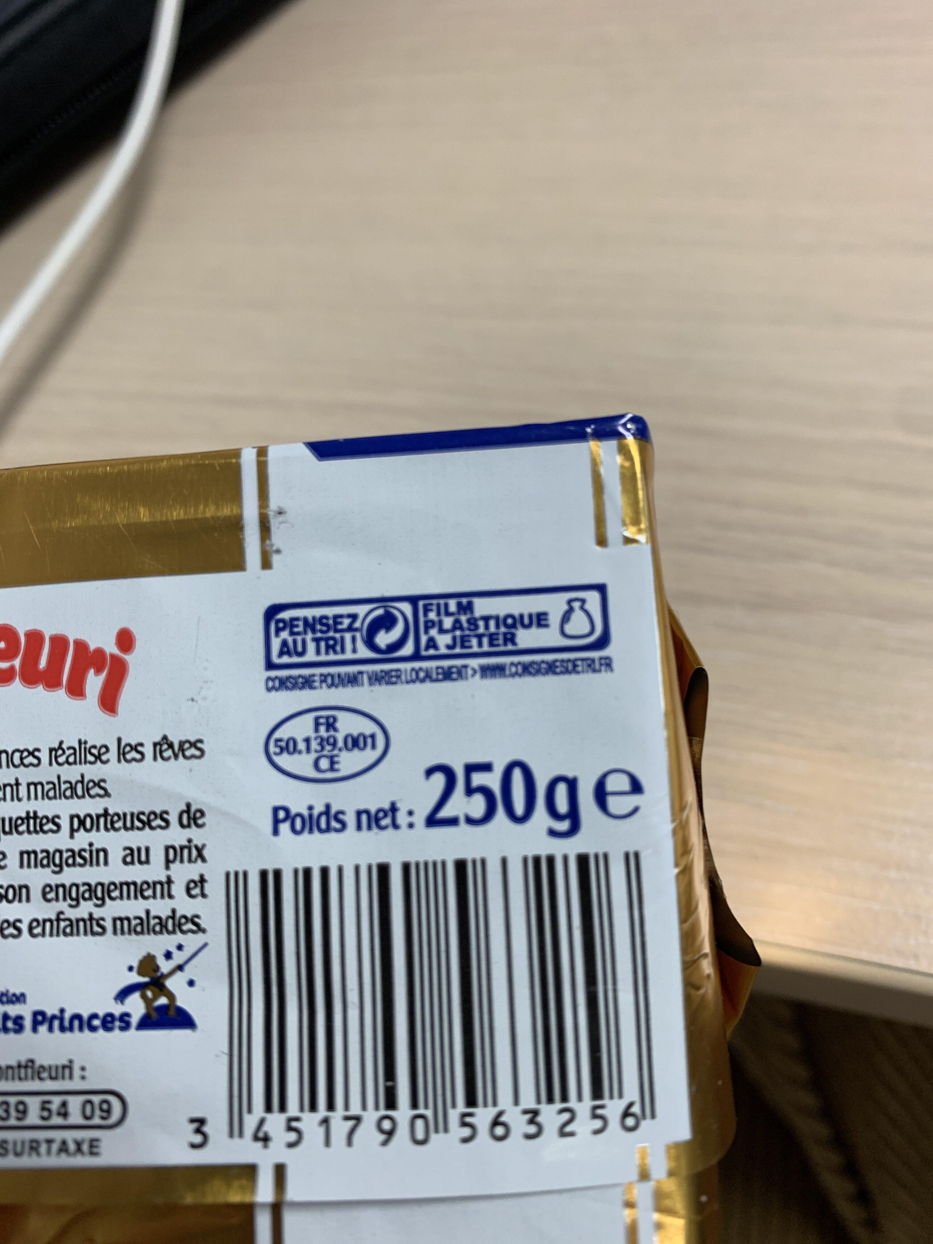 Beurre à teneur réduite en MG (60%) - Instruction de recyclage et/ou informations d'emballage - fr