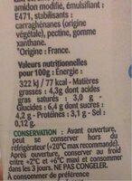 La Crème extra-legère fluide en brique - Informations nutritionnelles - fr