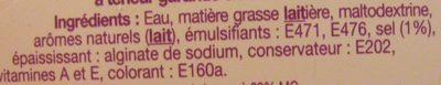 SI Léger 10% - Ingrédients - fr