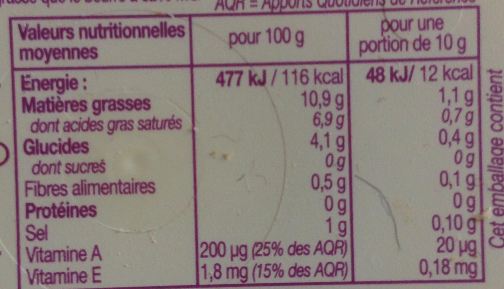 SI Léger 10% - Informations nutritionnelles - fr