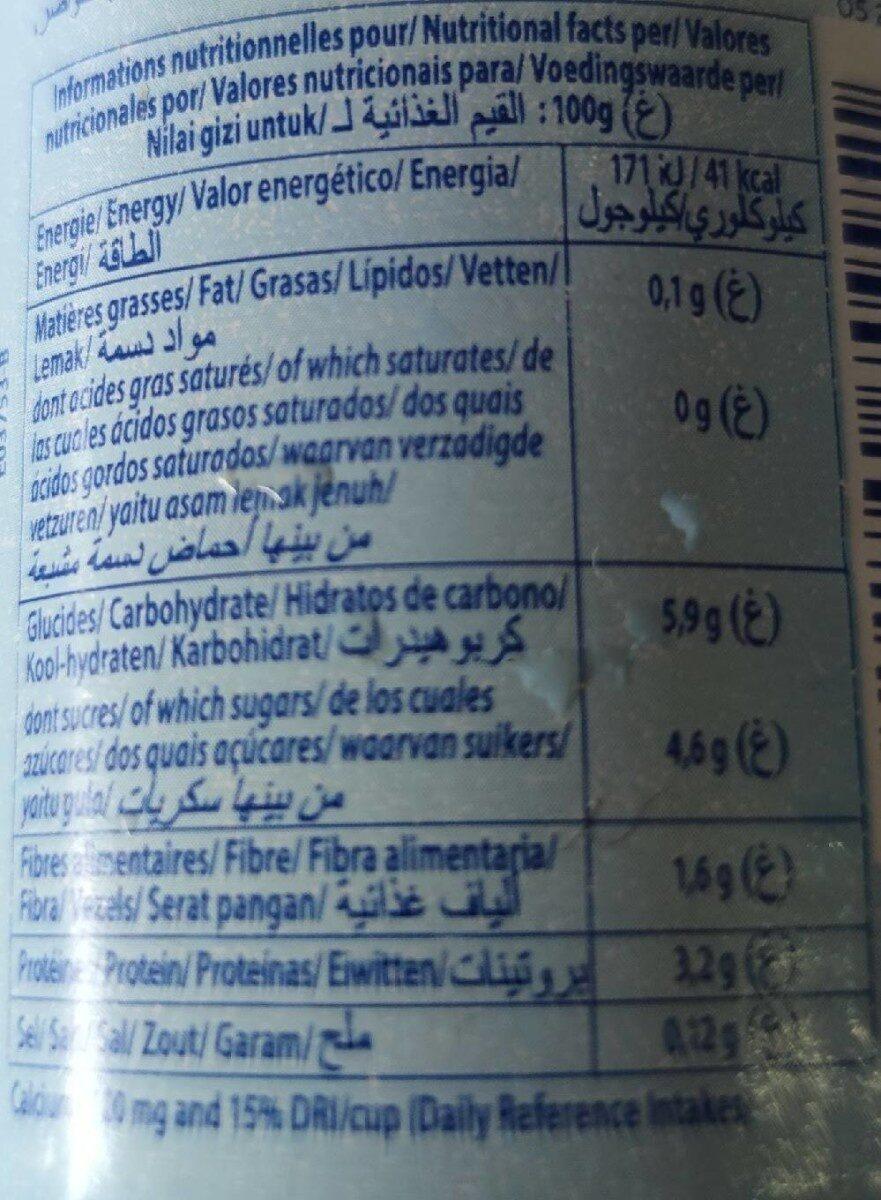 Dessert Lacté à La Fraise 0% - Informations nutritionnelles - fr