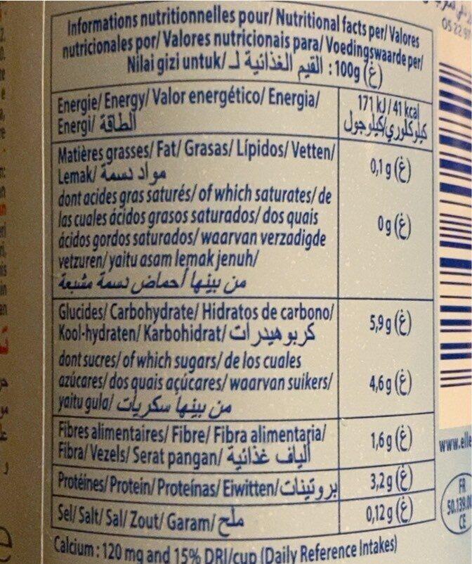 Dessert lacté aux fruits 0,1% stérilisé UHT - Fraise - Nutrition facts - fr