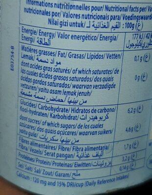 Dessert lacté aux fruits 0,1% stérilisé UHT - Myrtille - Voedingswaarden - fr