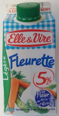 Fleurette - légère à 5% de M.G. - Produit