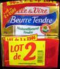 Le Beurre Tendre (lot de 2 x 250 g) Elle & Vire - Produit
