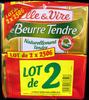 Le Beurre Tendre (lot de 2 x 250 g) demi-sel Elle & Vire - Produit