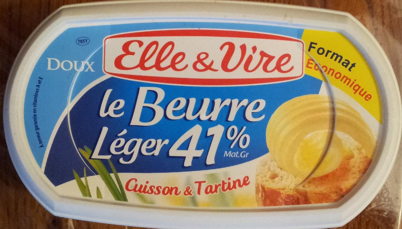Elle & Vire Le Beurre Léger 41% Cuisson & Tartine - Produit