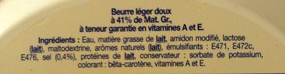 Elle & Vire Le Beurre Léger 41% Cuisson & Tartine - Ingrédients