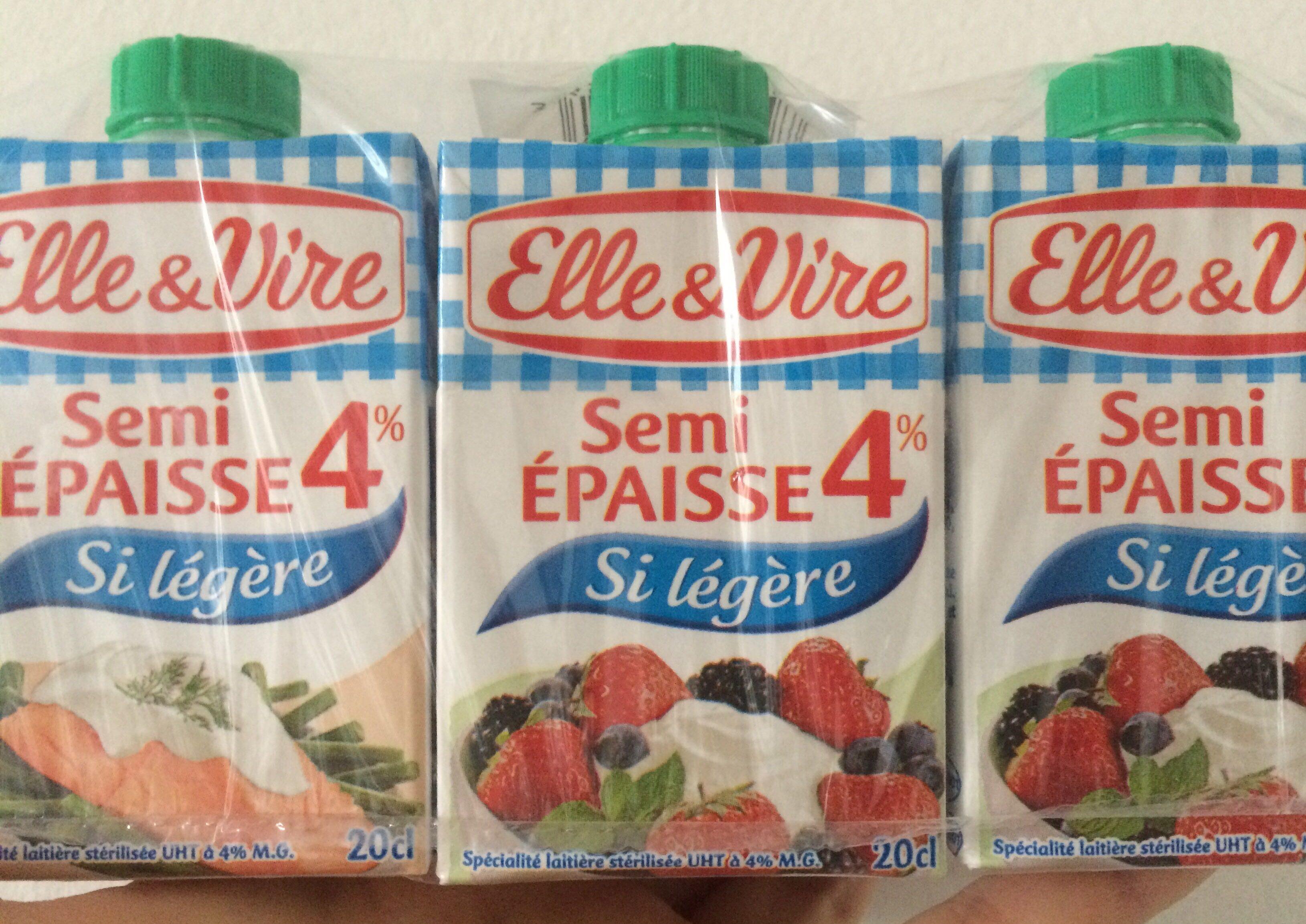 Crème Semi Épaisse - Produit