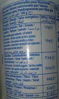 Elle & Vire Mangue - Informations nutritionnelles - fr