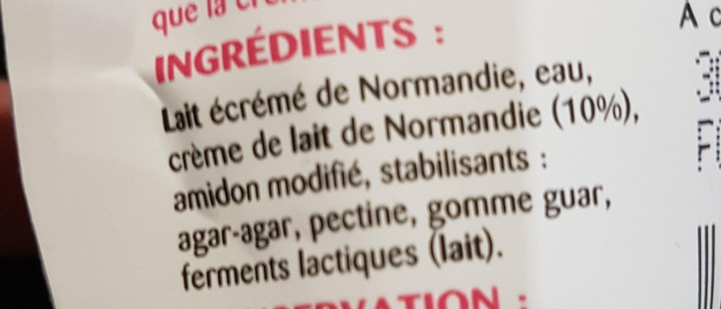 Si Légère 4% - Ingrediënten - fr