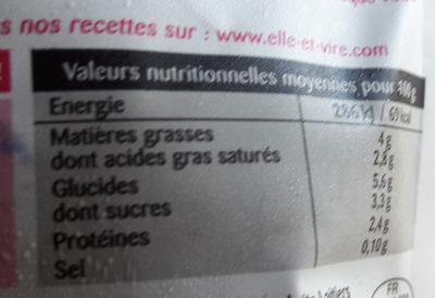 Si Légère 4% - Voedingswaarden - fr