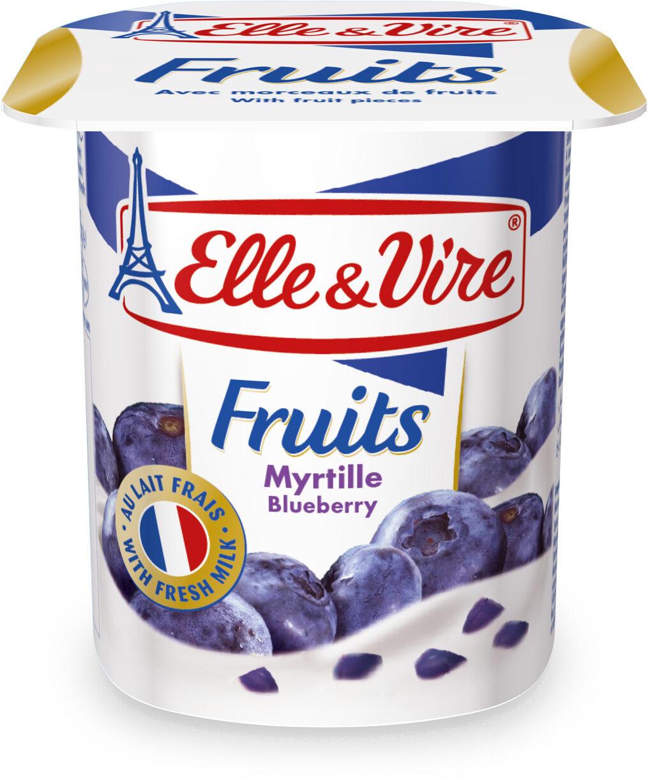 Dessert lacté aux fruits stérilisé UHT - Myrtilles - Product - fr