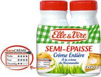 La Crème entière semi-épaisse à la crème de Normandie - Prodotto - fr