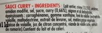 Sauce curry - Ingrediënten - fr