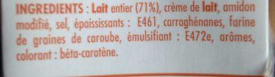 La Sauce Béchamel UHT au lait entier en brique - Ingredienti - fr