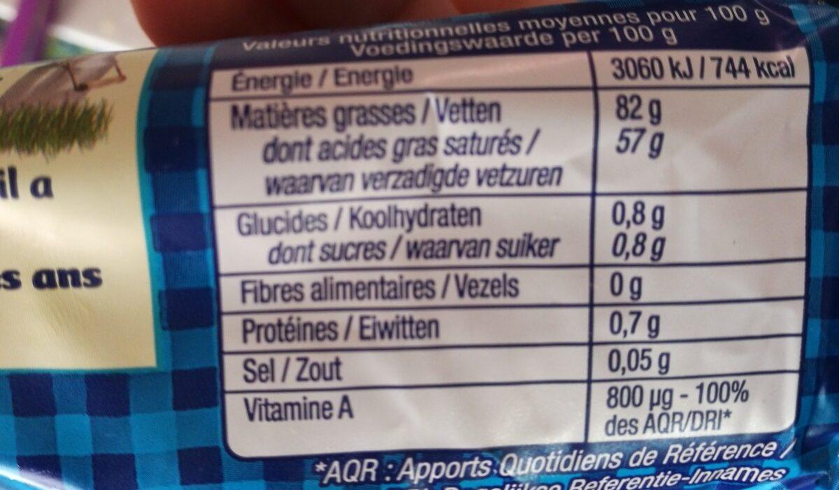 Le Beurre de Condé-sur-Vire doux - Ingrediënten - fr