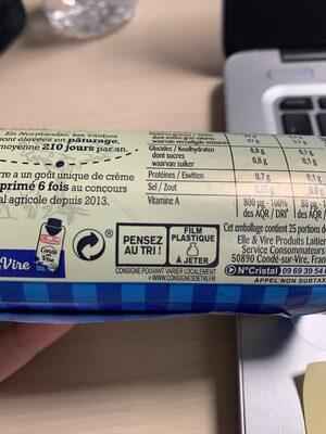 Le Beurre de Condé-sur-Vire doux - Recyclinginstructies en / of verpakkingsinformatie - fr