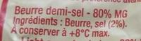 Beurre demi-sel Condé-sur-Vire - Ingrédients - fr