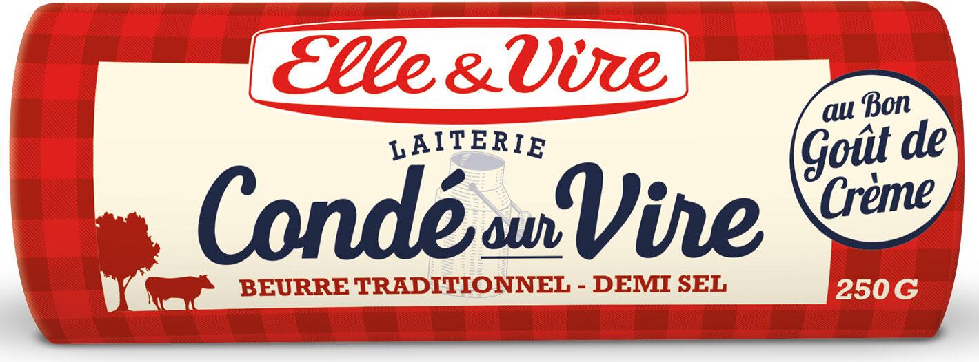 Le Beurre de Condé-sur-Vire demi-sel - Produit - fr