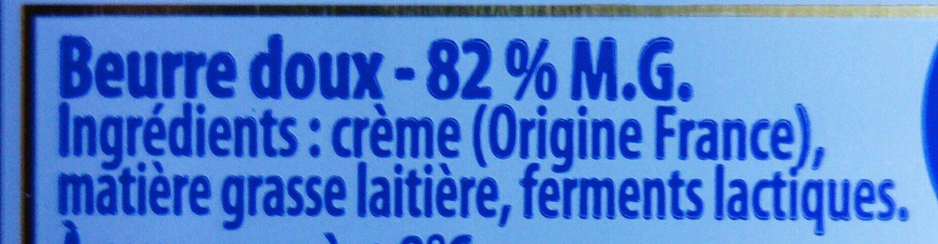 Le beurre tendre doux - Ingrédients - fr