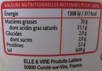 Crème fraîche épaisse - Nutrition facts - fr
