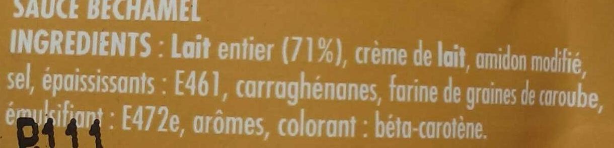 Sauce Béchamel - Ingrediënten - fr
