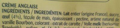 Crème anglaise à la vanille Bourbon - Ingrediënten - fr