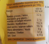 Crème anglaise à la vanille Bourbon - Voedingswaarden