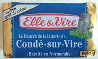 Le Beurre de la laiterie de Condé-sur-Vire baratté en Normandie (Doux) - Product - fr
