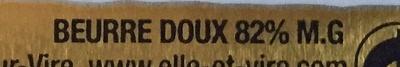 Le Beurre de la laiterie de Condé-sur-Vire baratté en Normandie (Doux) - Ingredients - fr