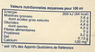 Milk Whole - Informations nutritionnelles - fr