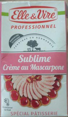 Sublime Crème Au Mascarpone - Produit