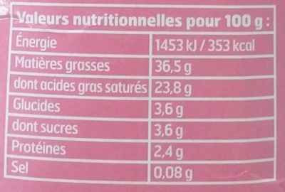 Sublime Crème Au Mascarpone - Informations nutritionnelles