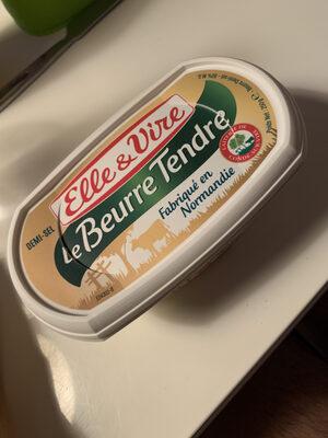 Le beurre tendre demi-sel - Product - en