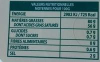 Le beurre tendre demi-sel - Informations nutritionnelles - fr