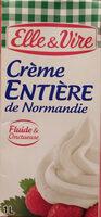 La Crème entière fluide UHT en brique de Normandie - Produit - fr