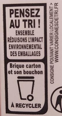 Crème entière de Normandie - Instruction de recyclage et/ou information d'emballage