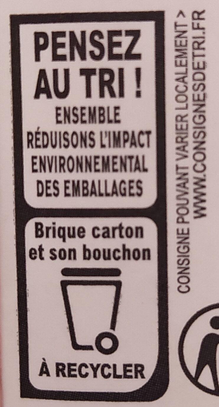 La Crème entière fluide UHT en brique de Normandie - Instruction de recyclage et/ou informations d'emballage - fr