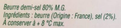 Les mini-beurres demi-sel - Ingrediënten - fr